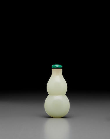 A fine jade 'double-gourd' snuff bottle 18/19th century