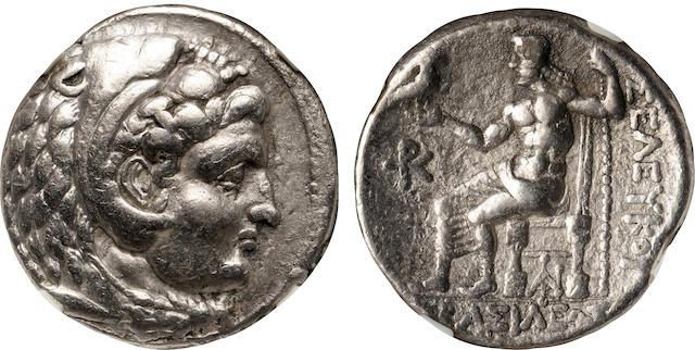 Seleucid Kingdom, Seleucus I. AR Tetradrachm, ca. 300-281 B.C, Choice VF NGC