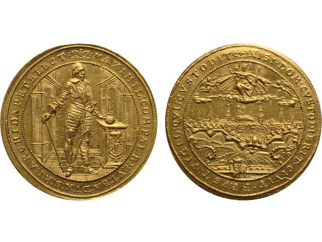 German States, Bavaria, Maximilian I, Gold 5 Ducat, 1640