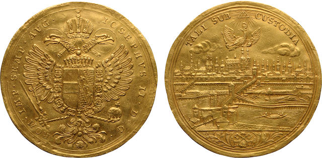 German States, Regensburg, Free City Gold 5 Ducats, (1765-1790)