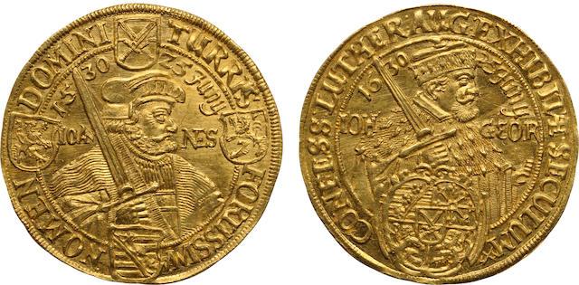 German States, Saxony, Albertine Line, Johann George I (1611-1656), Gold  2 Ducats, 1630