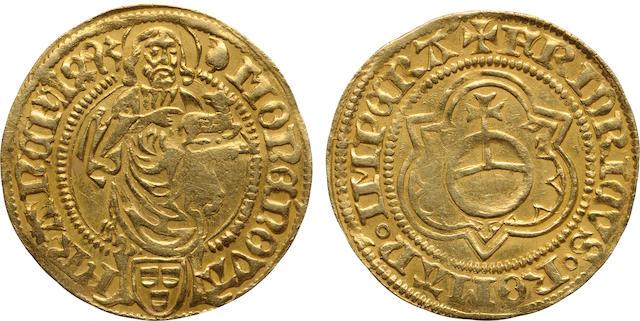 German States, Frankfurt, Friedrich III (Holy Roman Emperor), Goldgulden, 1491-1493