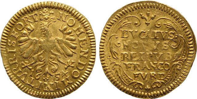 German States, Frankfurt, Gold Ducat, 1654