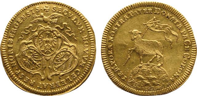 German States, Nürnberg, Gold Ducat, 1700 (in chronogram)