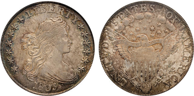 1803 $1 MS63 SMALL 3 PCGS