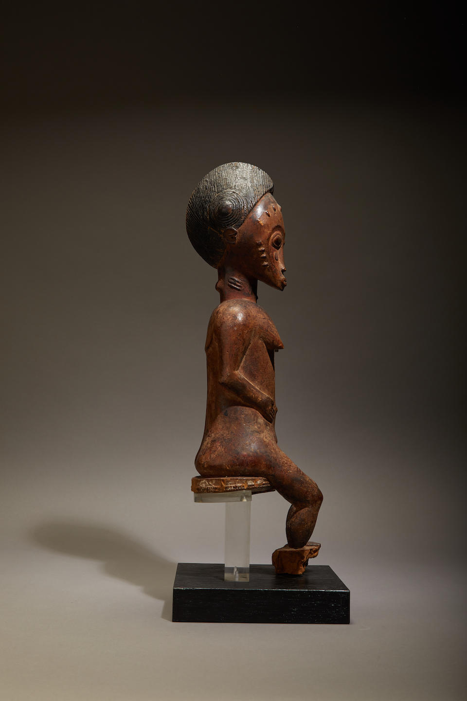 Baule Seated Female Figure, Ivory Coast