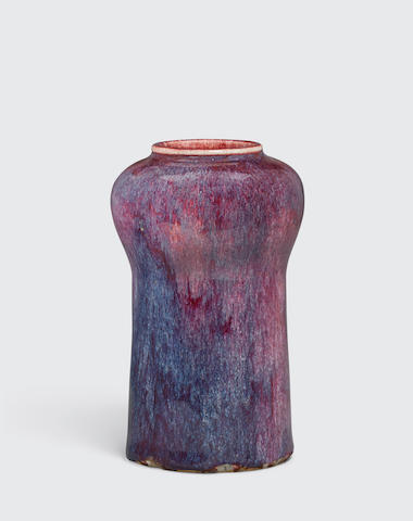A flambé glazed vase Late Qing/Republic period