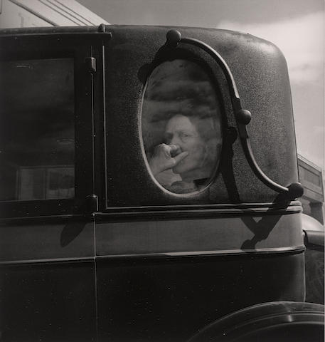 Dorothea Lange (1895-1965); Funeral Cortège, End of an Era in a Small Valley Town;