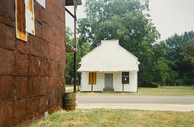 William Christenberry (born 1936); Warehouse Wall and Store, Newbern, Alabama;