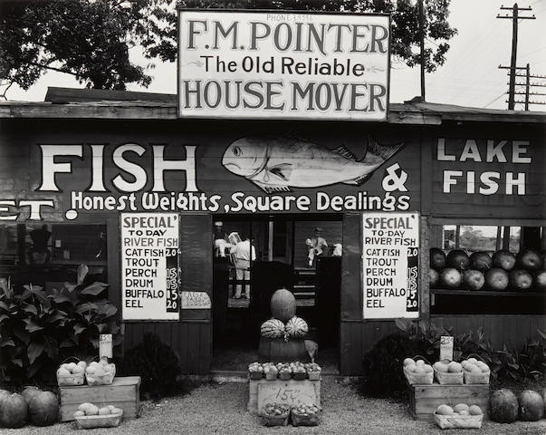 Walker Evans (1903-1975); Fish Market, near Birmingham, Alabama;