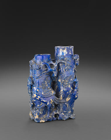A Reticulated Lapis lazuli vase Republic period