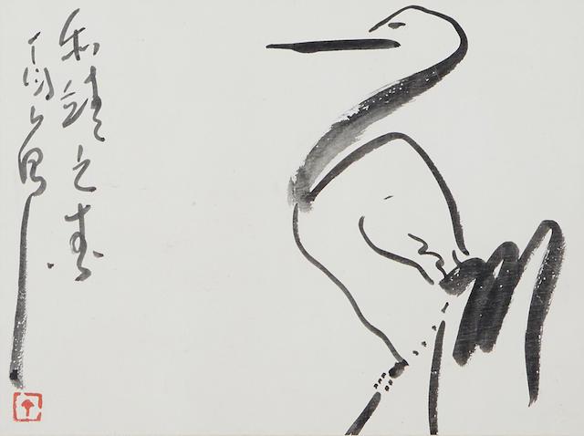 Ding Yanyong (1902-1978)  Crane