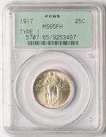 1917 Type One 25C MS65 Full Head PCGS