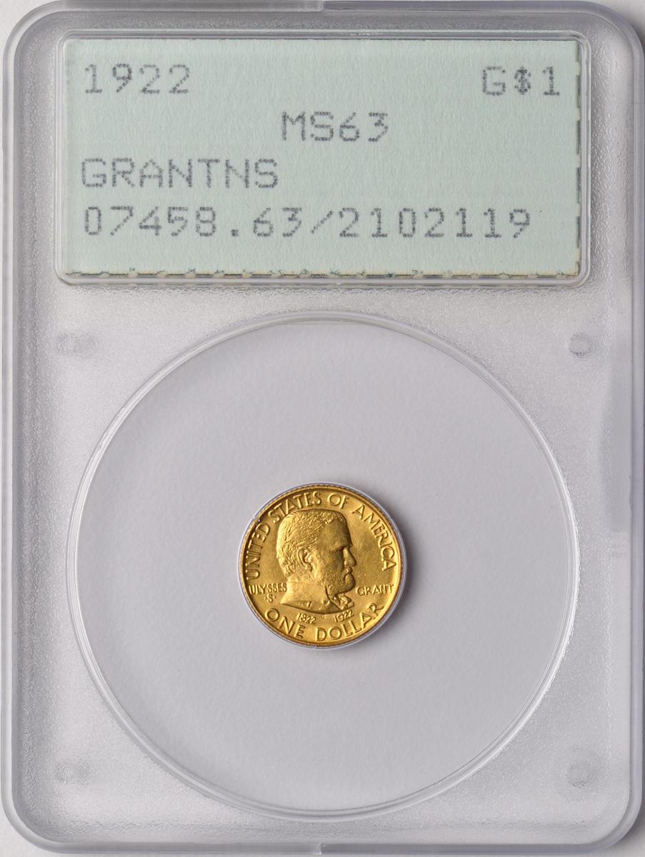 1922 Grant G$1 No Star MS63 PCGS