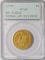 1795 $5 Small Eagle XF40 PCGS