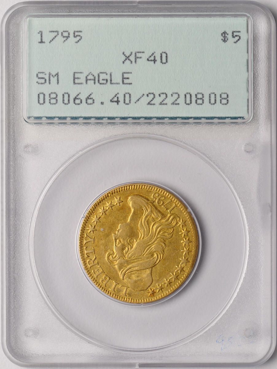 1795 $5 Small Eagle XF40 PCGS