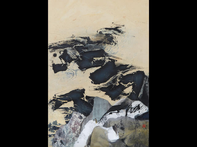 Liu Guosong (b. 1932) Black and Yellow Cosmos, 1968
