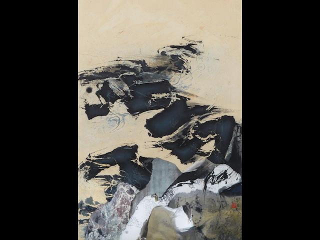 Liu Guosong (b. 1932) Black and Yellow Cosmos, 1968