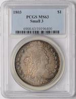 1803 $1 MS63 SMALL 3 PCGS