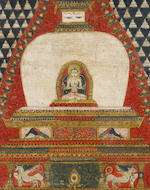 A PAUBHA OF THE LAKSHACHAITYA WITH VAIROCANA BUDDHA NEPAL, DATED 1525 CE