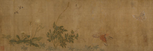 Attributed to Yun Shouping (1633-1690)  Insects and Plants