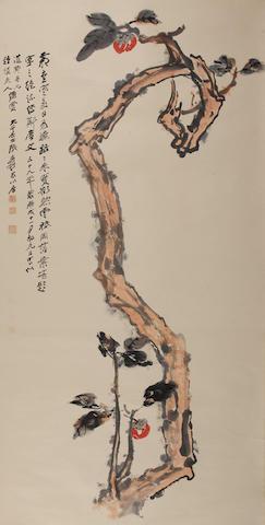 Zhang Daqian (1899-1983) Persimmon Tree, 1970