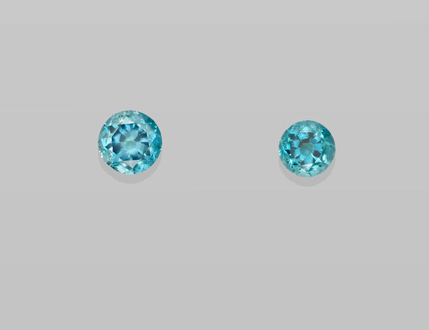 Two Blue Zircons