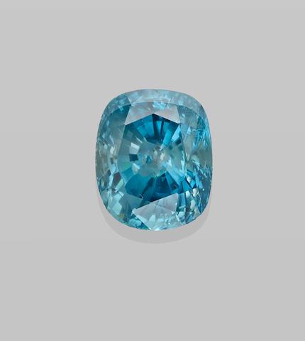 Large and Impressive Blue Zircon