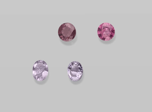 Group of Lavender and Rose Spinels