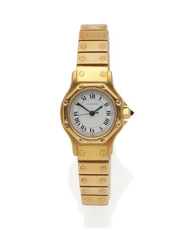 A lady's 18k Gold 'Santos' Bracelet wristwatch, Cartier
