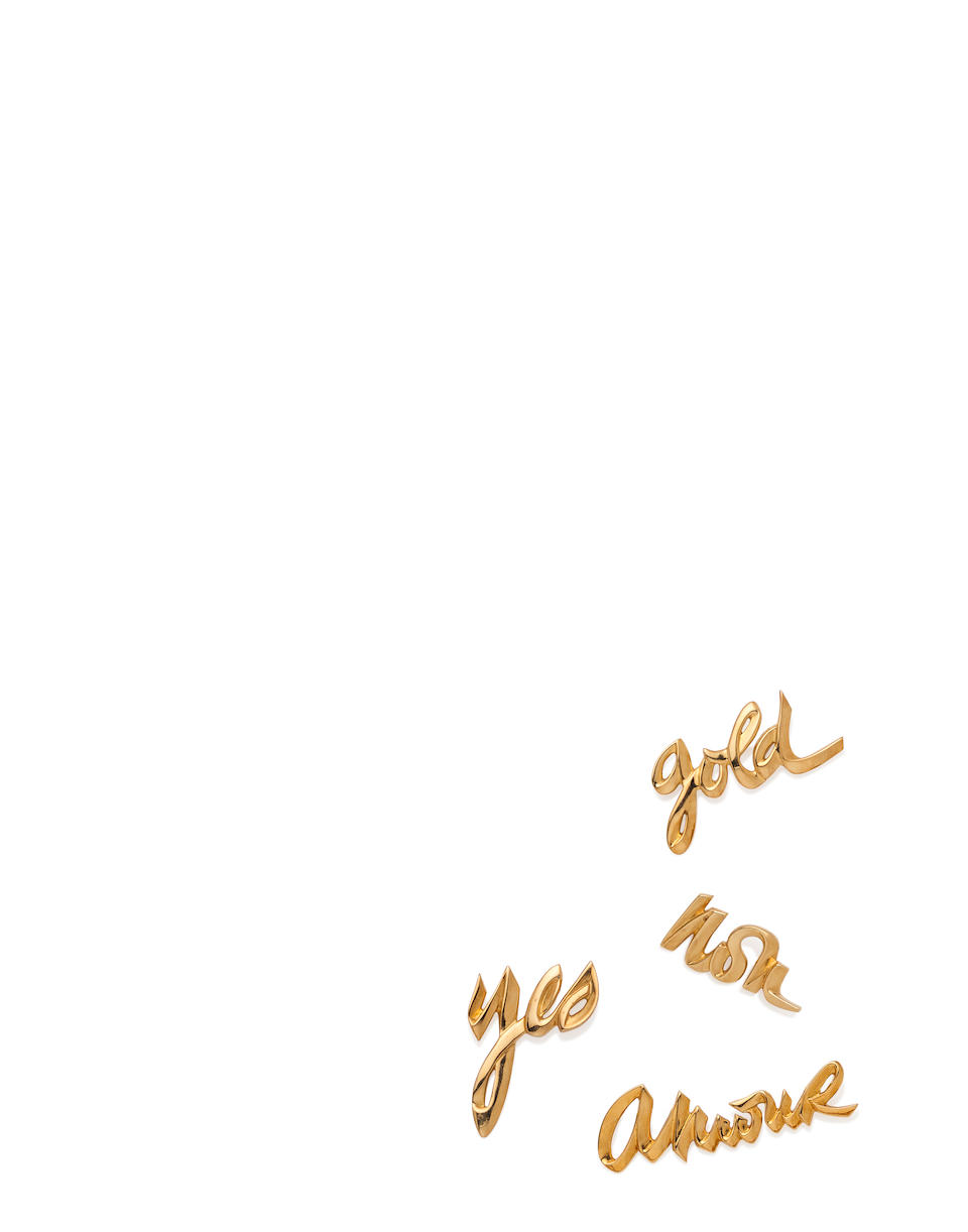 Four 18K gold 'script' brooches, Paloma Picasso for Tiffany & Co.,