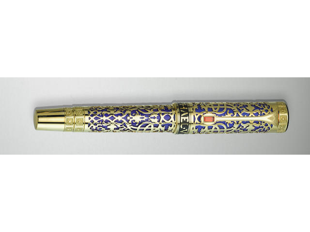 MONTBLANC: Master of Urbino [Raphael Sanzio da Urbino] 18K Solid Gold Limited Edition 83 Filigree Fountain Pen