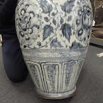A rare massive blue and white storage jar Le dynasty, 15th/16th century