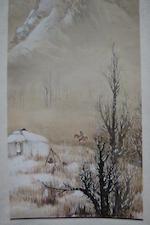 Li Xiongcai (1910-2001)  Kazakh Village Life, 1947