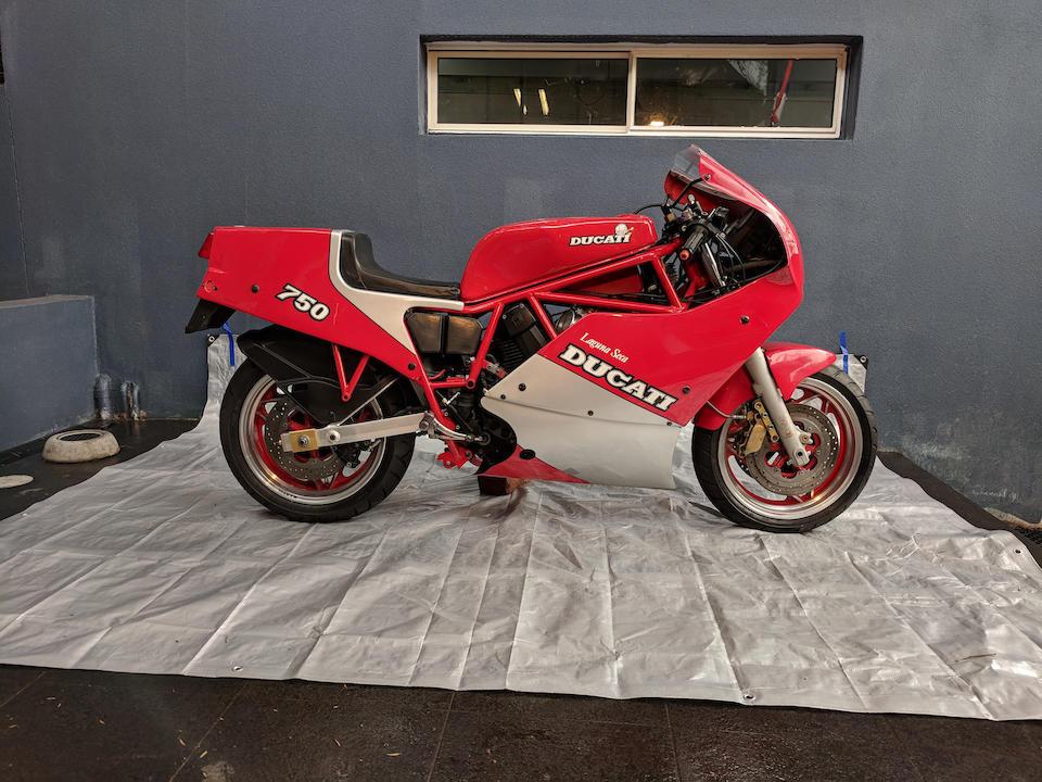 1987 Ducati 750cc F1 Laguna Seca  Frame no. ZDM750LS750207 Engine no. ZDM750L1750304