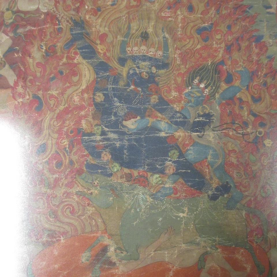 A thangka of Yama Dharmaraja Tibet, 19th Century