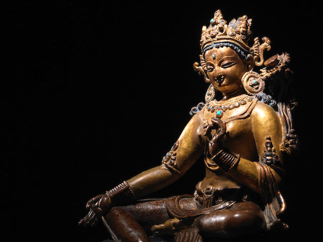 A COPPER FIGURE OF SYAMATARA NEPAL, 14TH CENTURY