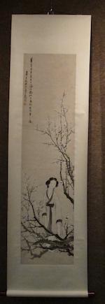 Ren Xiong (1820-1857)  Lady under Plum Tree