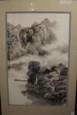 Liu Xun (b. 1958) River Landscape, 1988