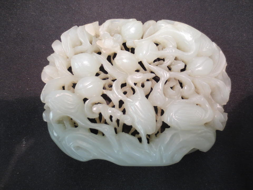 A carved jade plaque Ming dynasty