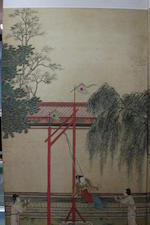 Attributed to Qiu Ying (1494-1552) One Hundred Beauties