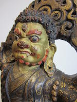A polychrome gilt lacquered wood figure of Dorje Drolo Qing dynasty, 17th century