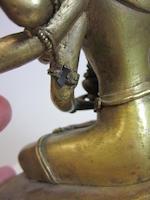 A gilt copper alloy figure of Ushnishavijaya Tibet, 18th century