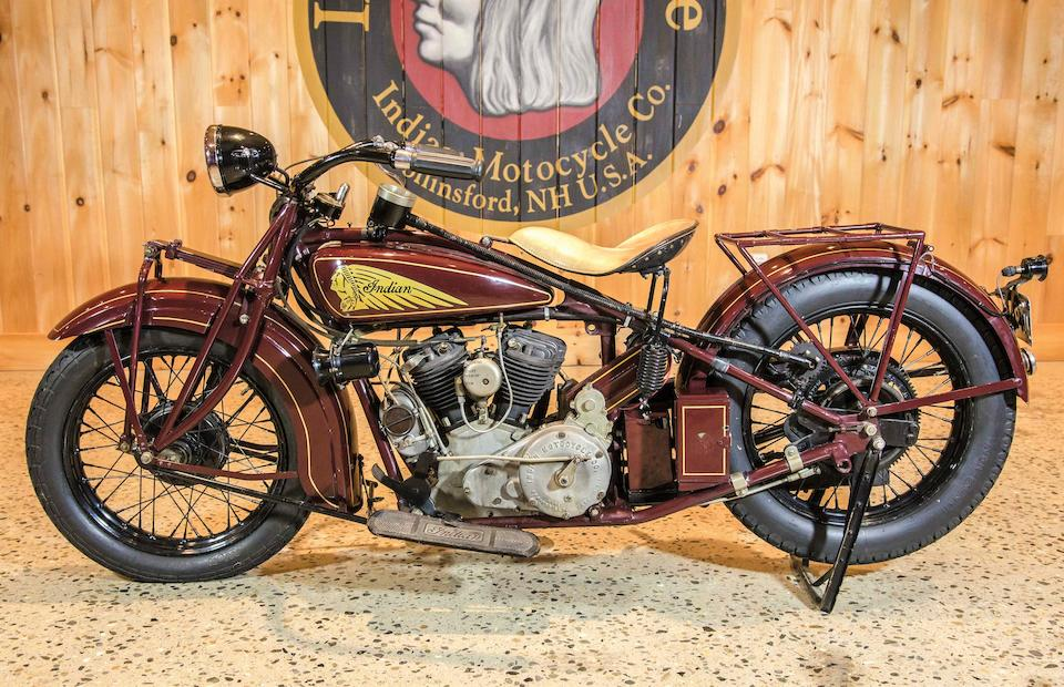 1929 Indian 45ci 101 Scout Engine no. DGP 8933