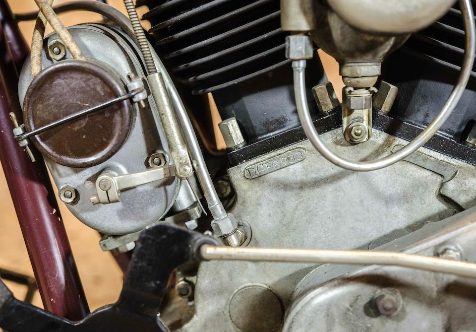 1929 Indian 45ci 101 Scout Engine no. DGP 8933