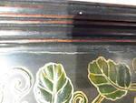 A pair of polychrome enameled metal and lacquered wood Da Ji wall panels 20th century