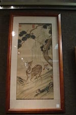 Anonymous (19th/20th century) Deer and Pine in the Manner of Lang Shining