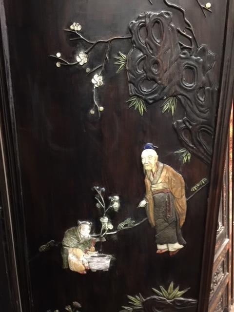 An eight panel screen Late Qing/Republic period