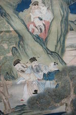 Anonymous (19th century) Longevity character with Immortals in Landscape