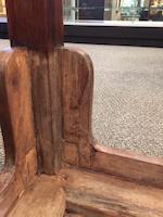 A huanghuali corner-leg table, tiaozhuo 18th century